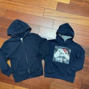 BUNDLE of 2 childrens place Hoodies boys small 5/6